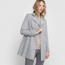 Cappotto fibre metalliscenti fiocco dietro