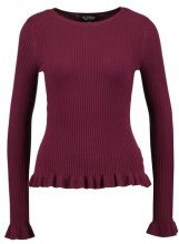 Miss Selfridge FRILL  Maglione burgundy
