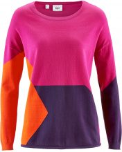 Pullover patchwork (Fucsia) - bpc bonprix collection