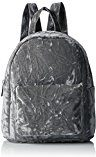 New Look Velvet Mini - Borse a zainetto Donna, Grey (Mid Grey), 7x23x24 cm (W x H L)