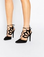 New Look - Scarpe stringate con tacco e cut-out