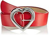 Moschino Belt with Heart Buckle, Cintura Donna, Rot (Red 9707), 90