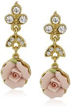 Downton Abbey Donna    base metal    rosa altro Cristallo FASHIONEARRING