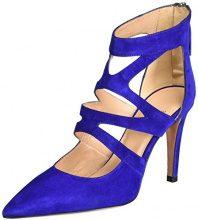 OxitalySissi 12 - Scarpe con Tacco Donna , blu (Blau (BIRO)), 36