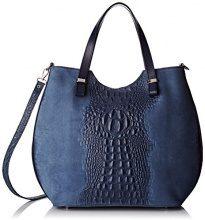 Chicca Borse 80046-1, Borsa a Tracolla Donna, Blu, 40x33x14 cm (W x H x L)