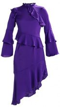 Miss Selfridge FRILL ASSYM HEM DRESS Vestito estivo purple