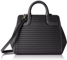 Mandarina Duck You Leather Tracolla - Borse a spalla Donna, Schwarz (Black), 12x23x28 cm (B x H T)
