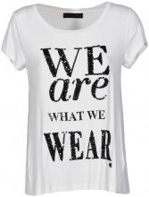 Top Caf? Noir  MJT062 T SHIRT WE ARE WHAT WE WEAR