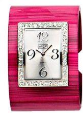 Eton Donna a righe effetto metallo Cuff, stile, nichel safe–2733j-pink