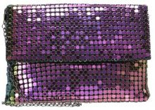 Missguided IRIDESCENT CHAINMAIL Pochette black