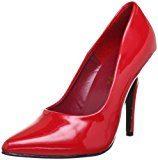 PleaserSeduce-420 - alto Donna , rosso (Rot (Red pat)), 38 EU