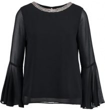 Wallis EMB NECK FLUTE SLEEVE Camicetta black