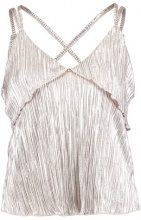 Miss Selfridge PLISSE  Top metallic