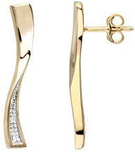 Naava Orecchini Pendenti da Donna, Oro Giallo 9 Carati 375, Diamante