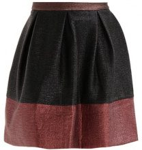 See u Soon COLOUR BLOCK SKIRT Gonna a campana black/wine