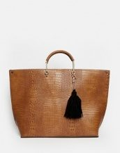 New Look - Maxi borsa in finto coccodrillo