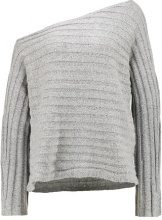 Vero Moda CLEARLAKE OFFSHOULDER  Maglione light grey melange
