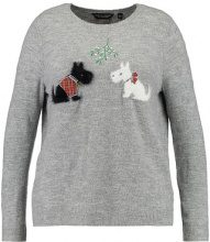 Dorothy Perkins Curve CHRISTMAS WITH DOGS  Maglione grey