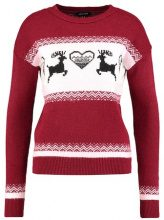 New Look FAIR ISLE CHRISTMAS Maglione wine red