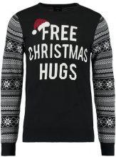 Burton Menswear London FREE CHRISTMAS HUGS Maglione black