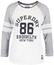 Superdry BROOKLYN Maglietta a manica lunga fresh grey marl/optic