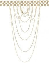 Missguided BODY CHAIN Collana goldcoloured