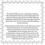 Amanti Venezia-Bracciale nero e argento con perle in autentico vetro di Murano, montato su catenina di 46 46 cm