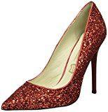 Buffalo London11335-269 GLITTER - Scarpe con Tacco Donna , Rosso (Rosso (rosso)), 38 EU