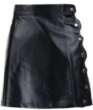 Lost Ink Petite SCALLOP WRAP SKIRT Gonna a campana black