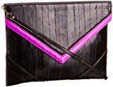 Makki - Pochette VCLTCHBLKMSTD Donna, Nero (Black/Hot Pink)