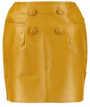 Lost Ink MINI SKIRT WITH 4 BUTTONS Minigonna mustard