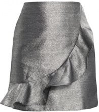 Glamorous Petite RUFFLE MINI SKIRT Gonna a campana silver
