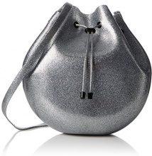 Melissa Bucket Bag - Borse a tracolla Donna, Silver (Silver Glitter), 13x30x30 cm (W x H L)