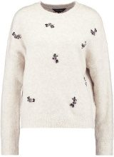 New Look CLUSTER EMBELLISHED JUMPER WINDOW Maglione oatmeal