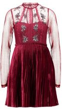 Free People ARIEL PLEATED MINI DRESS Vestito elegante red