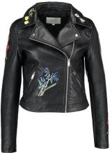 Vila VIFLORALA BIKER JACKET Giacca in similpelle black
