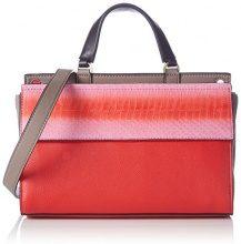 Calvin Klein JeansSHARI SNAKE SMALL FLAP SATCHEL - Borsa con Maniglia Donna, Rosso (Rot (COLORBLOCK 905 905)), 25x17x12 cm (B x H x T)