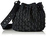 Liu Jo Anger Basket - Borse a spalla Donna, Schwarz (Black), 17x29x26 cm (B x H T)