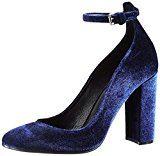 LaurèlPumps - Scarpe con cinturino alla caviglia Donna , blu (blu (blu reale)), 36 EU