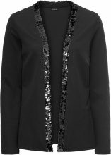 Blazer in jersey con paillettes cangianti (Nero) - BODYFLIRT