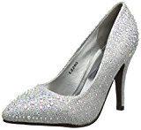 Spot On L2280 - Scarpe con Tacco donna, colore Argento (Silver), taglia 39 EU