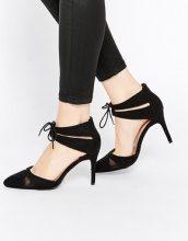 New Look - Scarpe in 2 parti con tacco e inserti a rete e vestibilità ampia