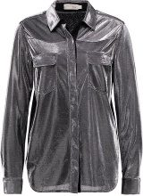 See u Soon SILVER BUTTON UP  Camicia silvery