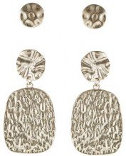 Topshop TEXTURED 2 PACK Orecchini goldcoloured