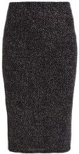 Dorothy Perkins GLITTER PENCIL SKIRT Gonna a tubino black