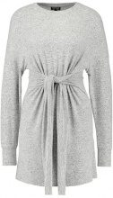 Topshop CUT & SEW JUMPER DRESS Abito in maglia grey