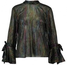 Warehouse RAINBOW SHIMMER TIE BACK  Camicetta black
