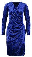 Wallis VELVET WRAP DRESS Tubino blue