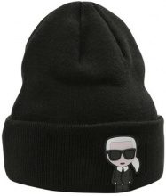 KARL LAGERFELD IKONIK PATCH BEANIE Berretto black