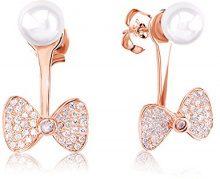 Ingenious Jewellery Donna  925   Ronde   bianco Perla Ossido di zirconio FINEEARRING